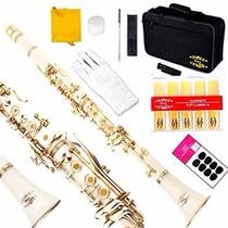 Clarinete Profesional Musical Glory B Con Accesorios Blanco
