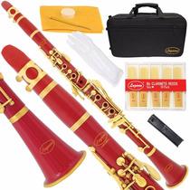 Clarinete Lazarro + Accesorios Instrumento Musical Ebonita