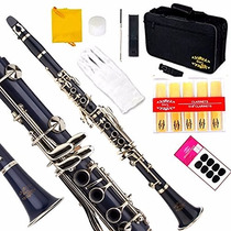 Instrumento Musical Clarinete Glory B Profesional Azul