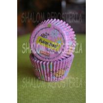 *capacillos Fulanitos Rosas Muffin Quequis Cupcake Fondant*