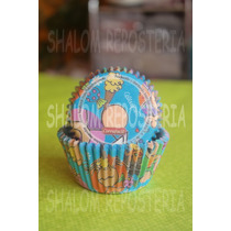 *capacillos Fulanitos Azul Celeste Muffin Cupcake Fondant*