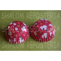 *capacillos Rojos Munecos De Nieve Navidad Cupcake Fondant*
