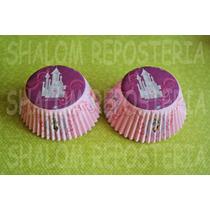 *capacillos Rosas Princesas Disney Muffin Cupcake Fondant*