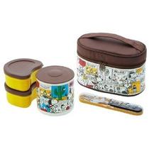 Snoopy Térmica Bento Lunch Box Set (3 Alimentos Contenedores
