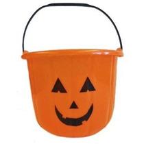 Gran Servicio Pesado Calabaza De Halloween Cubo - Plástico N