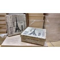 Caja Vintage Decoracion Decoupage Con Servilleta