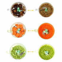 Procesador Alimentos Manual Pica Rebana Portatil Facil Usar