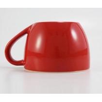 Taza De Ceramica Diseño Al Revés Hecho En México Rojo