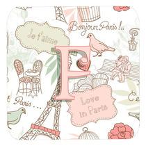 Conjunto De 4 De La Letra F Amor En París Pink Espuma Cerve
