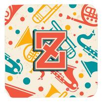 Conjunto De 4 De La Letra Z Retro Teal Orange Instrumentos M