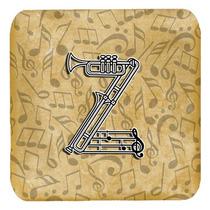 Conjunto De 4 De La Letra Z Del Alfabeto Del Instrumento Mus