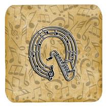 Conjunto De 4 De La Letra Q Del Instrumento Musical Del Alfa