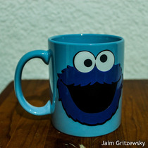 Taza Cookie Monster Monstruo Comegalletas