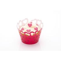 Wraparounds Cake - Paquete De 12 Corazón Temáticas Papel M