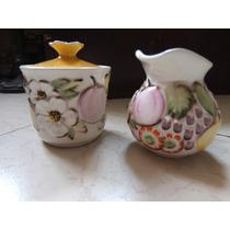 Azucarera Y Cremera Marca Ceramicas De Cuernava