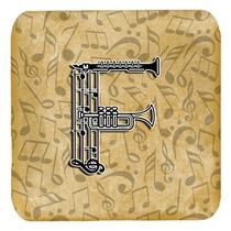 Conjunto De 4 De La Letra F Del Instrumento Musical Del Alfa