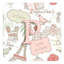 Conjunto De 4 Letra P Amor En París Pink Espuma Cerveza Cj2