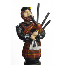 Scottish Flautista Gaitas Verde Novedad Vino Tapón De La Bo