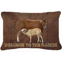 Bienvenido Al Rancho De La Vaca Y La Lona Del Bebé Tela Alm