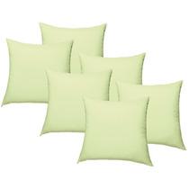 Juego De 6 Cojines Decorativos Suavitec Verde Limon Concord