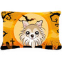 Tela De Halloween Chihuahua Almohada Decorativa Bb1809pw1216