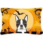 Terrier De La Tela De Halloween Boston Almohada Decorativa B