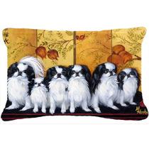 Chin Japonés Casa De Té Tela Almohada Decorativa Mh1060pw1