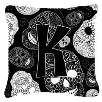 Letra K Día De Los Cráneos Muertos Negro Tela De Lona Almo