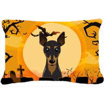Min Pin De Halloween Tela Almohada Decorativa Bb1798pw1216