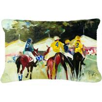 Polo En El Punto De Tela De Lona Almohada Decorativa Jmk1007