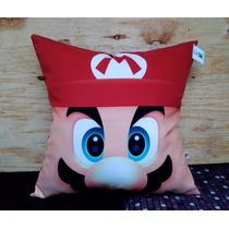Cojín Mario Bros Videojuegos Nintendo Regalo Y Decoración