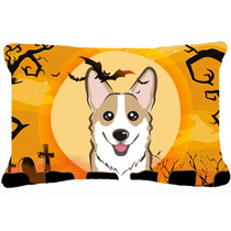 Sable De Halloween Corgi Tela Almohada Decorativa Bb1811pw12