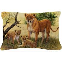 Cachorros De León Y Por Daphne Baxter Tela Almohada Decorat
