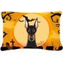 Doberman De Halloween Tela Almohada Decorativa Bb1803pw1216