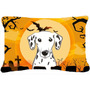 Dalmatian De Halloween Tela Almohada Decorativa Bb1768pw1216