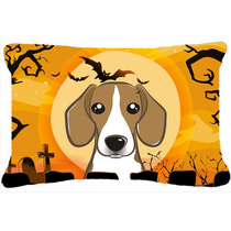 Beagle De Halloween Tela Almohada Decorativa Bb1797pw1216