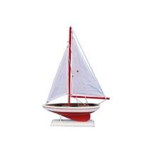 Hechos A Mano Nautical Decor Pacífico Sailer Velero 17 Red