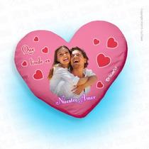 Cojín Personalizado Corazón Impreso Con Tus Fotos Favoritas