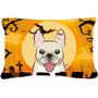 Bulldog Francés De Halloween Tela Almohada Decorativa Bb179