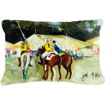 Polo En El Punto De Tela De Lona Almohada Decorativa Jmk1006