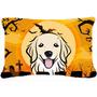 Golden Retriever De Halloween Tela Almohada Decorativa Bb176