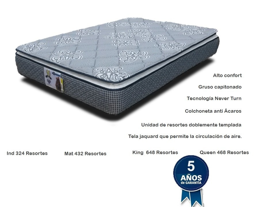 colchon y box king size spring air base cama pillow top ForColchones King Size Baratos