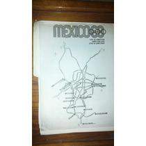 Excelente Programa Olimpico Mexico 1968 Con Mapa