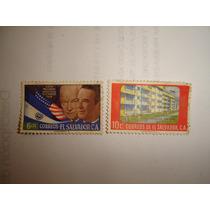 Estampilla Correo De El Salvador De 6 Y 10 Cts Año 1959