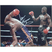 Fotografia Autografiada Firmada James Toney Box Boxeo