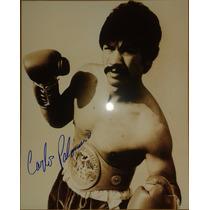 Fotografia Autografiada Firmada Carlos Palomino Box Boxeo