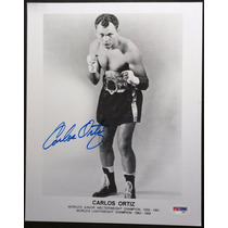 Fotografia Autografiada Firmada Carlos Ortiz Box Boxeo