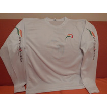 Playera Blanca Dry Fit Manga Larga Force India F1