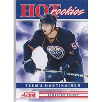 2011-2012 Score Hot Rookies Teemu Hartikainen C Edm Oilers
