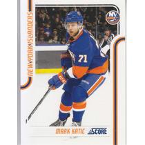 2011-2012 Score Glossy Mark Katic D New York Islanders Nhl